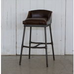 VAN THIEL LEATHER BAR STOOL
