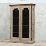 VAN THIEL MONTPELLIER GLASS DOORS CABINET WEATHERED