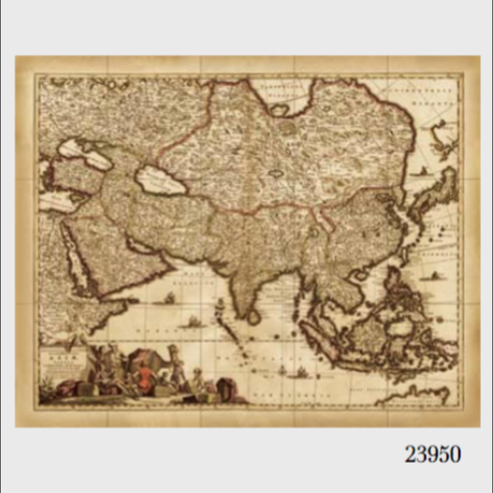 VAN THIEL MAP OF ASIA LARGE