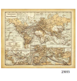 VAN THIEL SHIPPING MAP OF THE WORLD