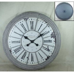 ANTIC LINE CASTLE GREY FRAME CLOCK