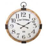 ANTIC LINE WOODEN CLOCK