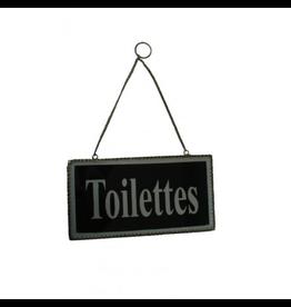 ANTIC LINE Door plaque TOILETTES