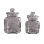 ANTIC LINE GLASS JARS