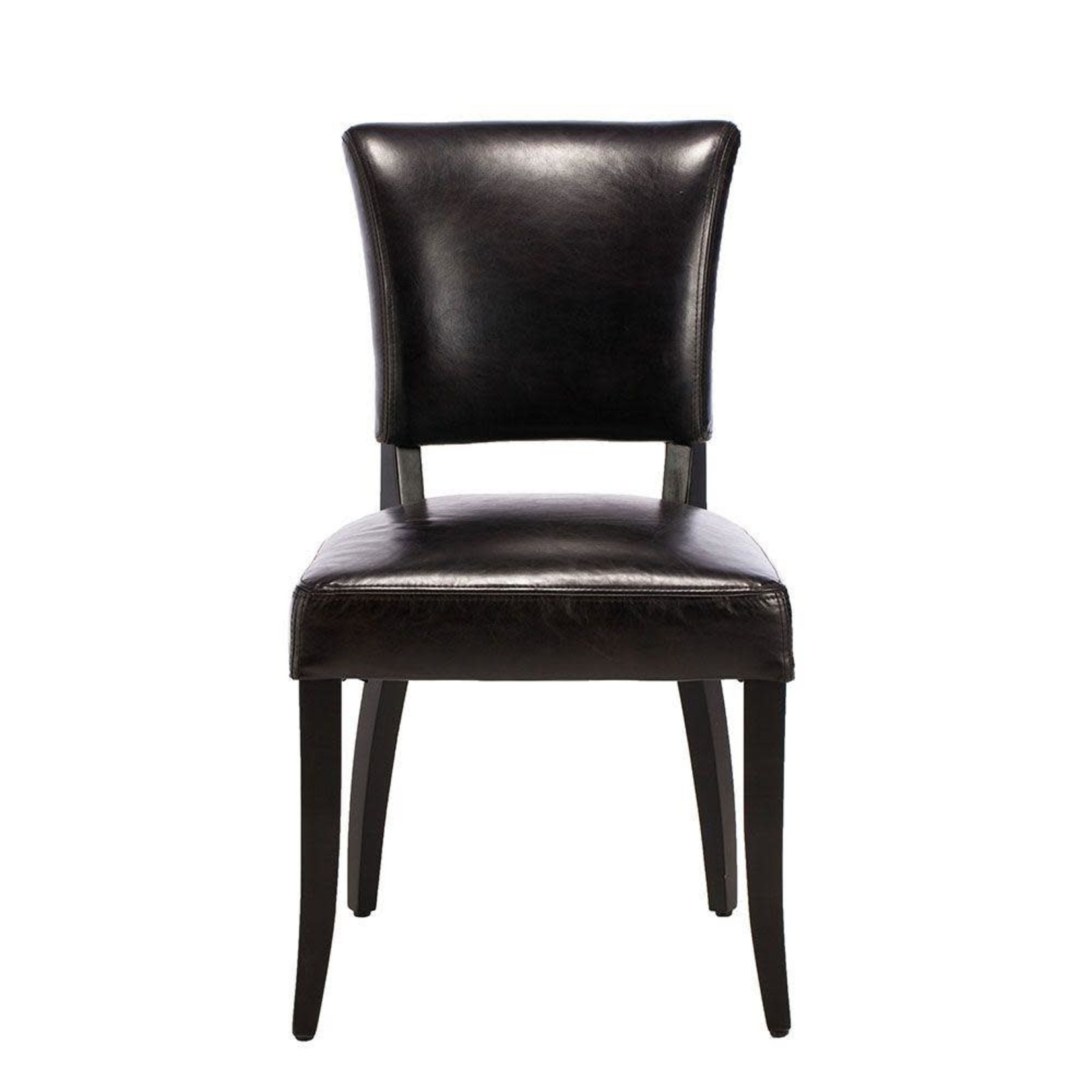 TIMOTHY OULTON MIMI DINING CHAIR OLD SADDLE BLACK & BLACK
