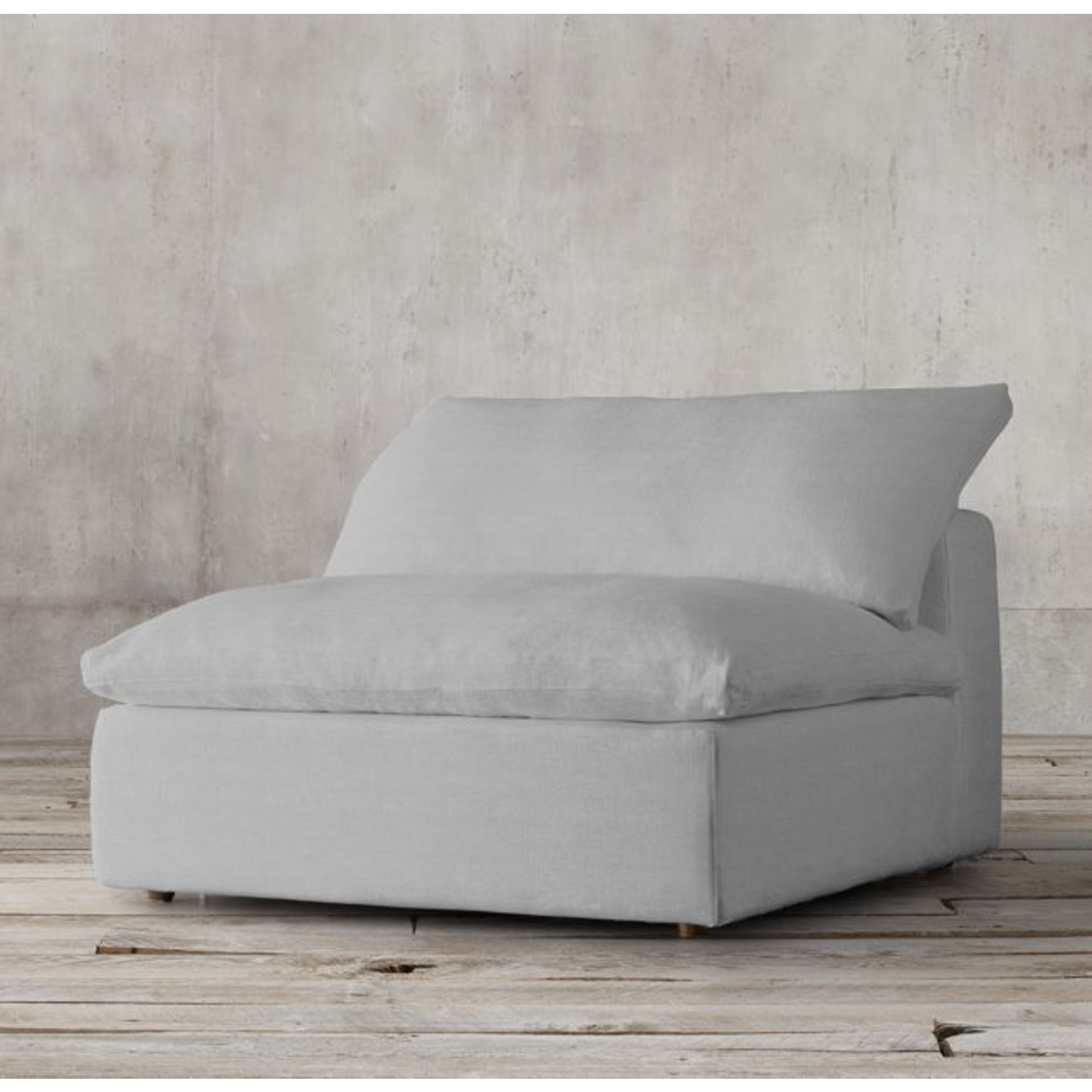 TIMOTHY OULTON CLOUD SMALL SECT 1 SEATER-GALATA LINEN GREY