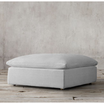 TIMOTHY OULTON CLOUD SM SECT FOOTSTOOL-GALTA LINEN GREY