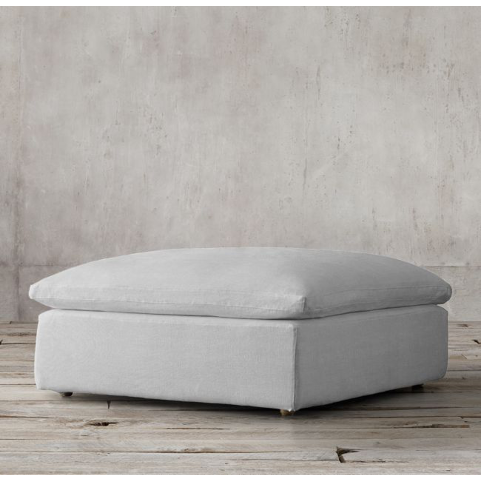 TIMOTHY OULTON SECTIONAL CLOUD SM FOOTSTOOL-GALTA LINEN GREY