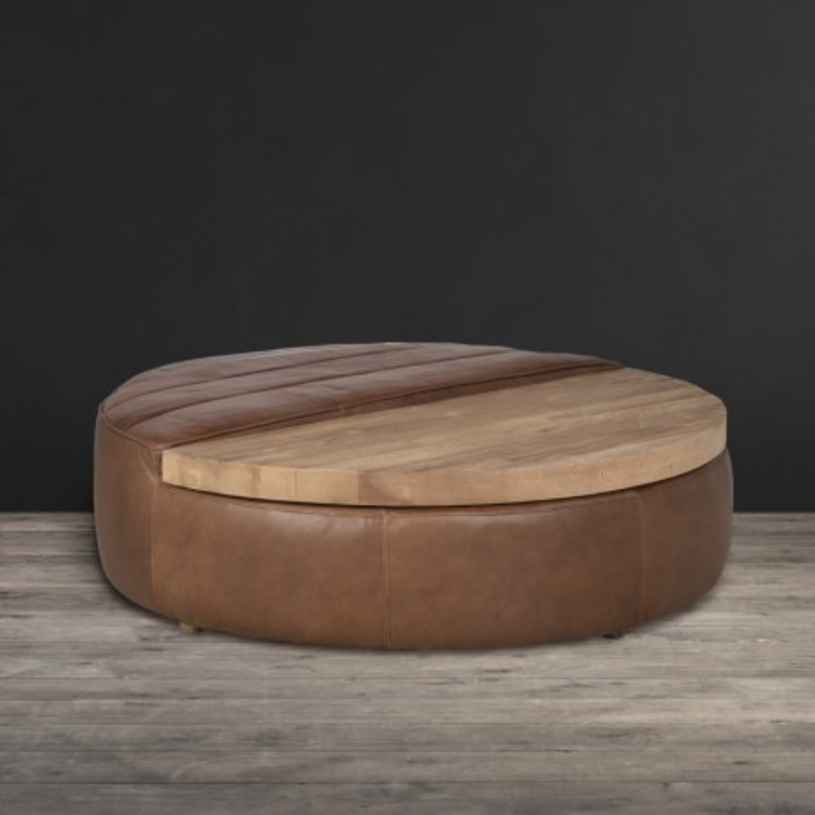 TIMOTHY OULTON SHABBY ROUND COFFEE TABLE