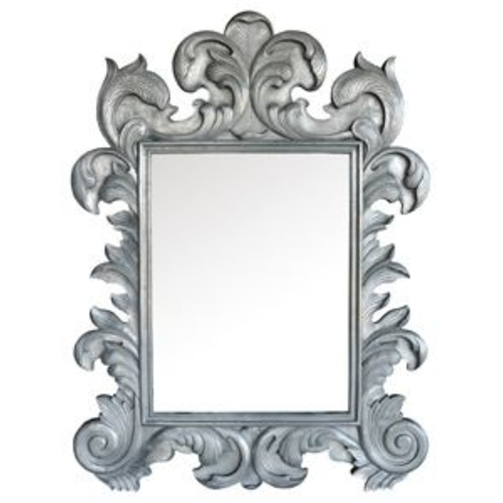 TIMOTHY OULTON FLORENTINE MIRROR  DESTROYED GLASS & WOOD
