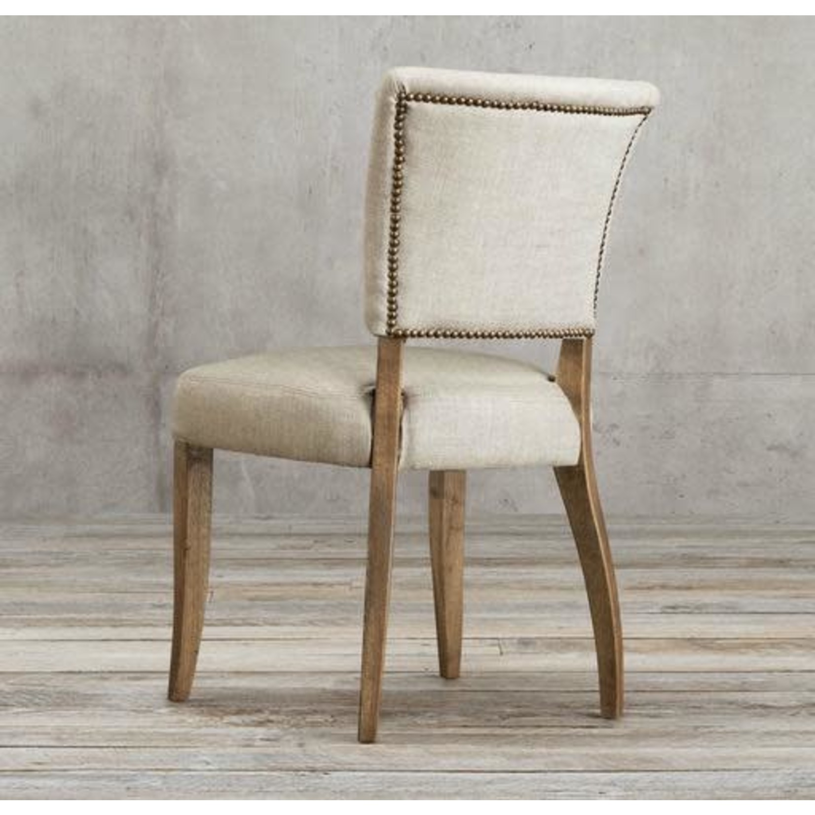 TIMOTHY OULTON MIMI DINING CHAIR GALTA LINEN CREMA WETHER OAK