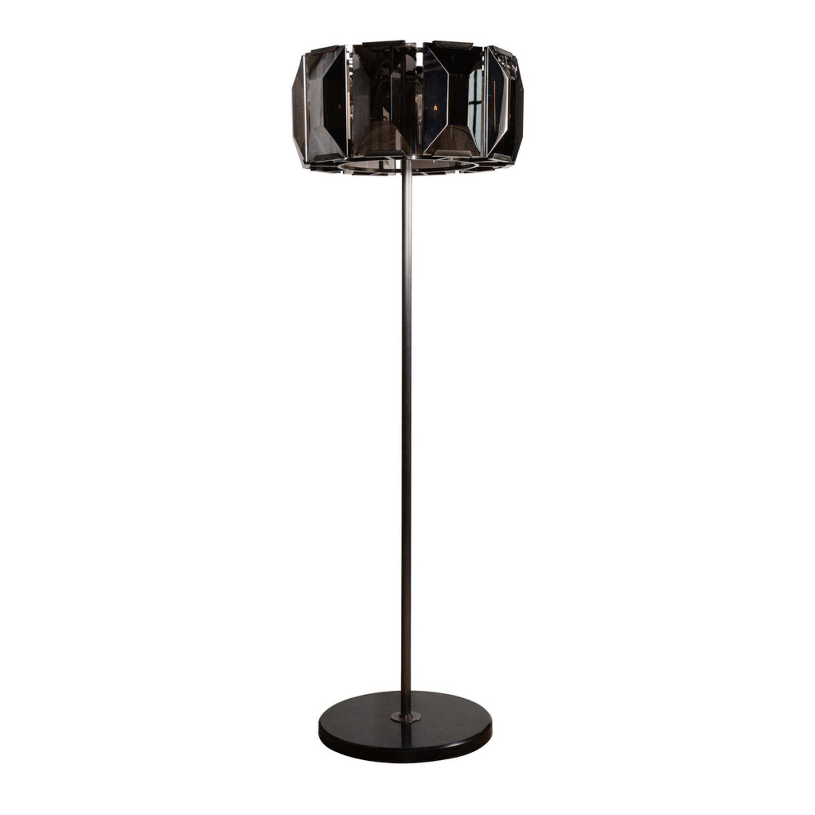 TIMOTHY OULTON FACET CRYSTAL FLOOR LAMP WITH DIMER-GREY