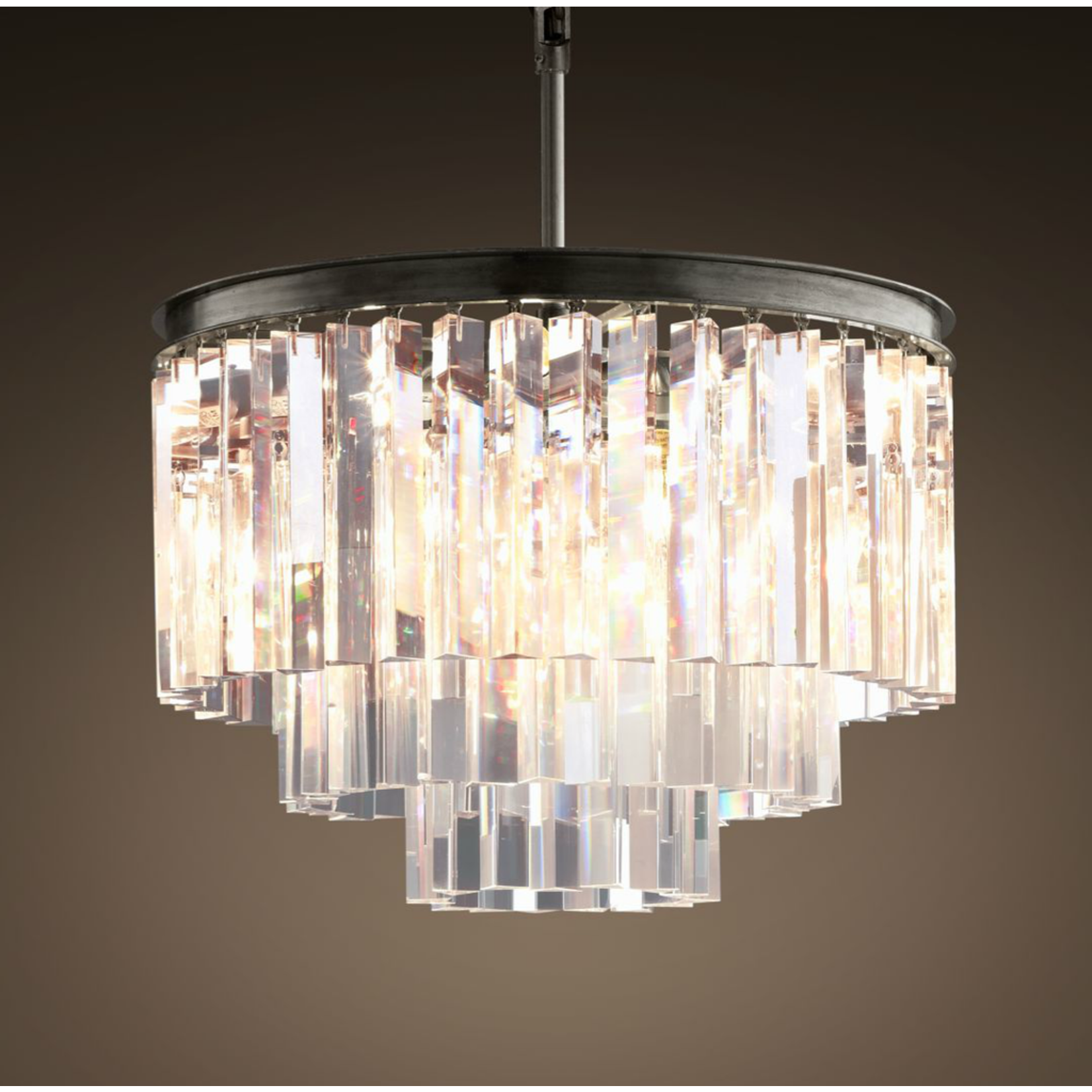 TIMOTHY OULTON ODEON SMALL 3 RING CHANDELIER