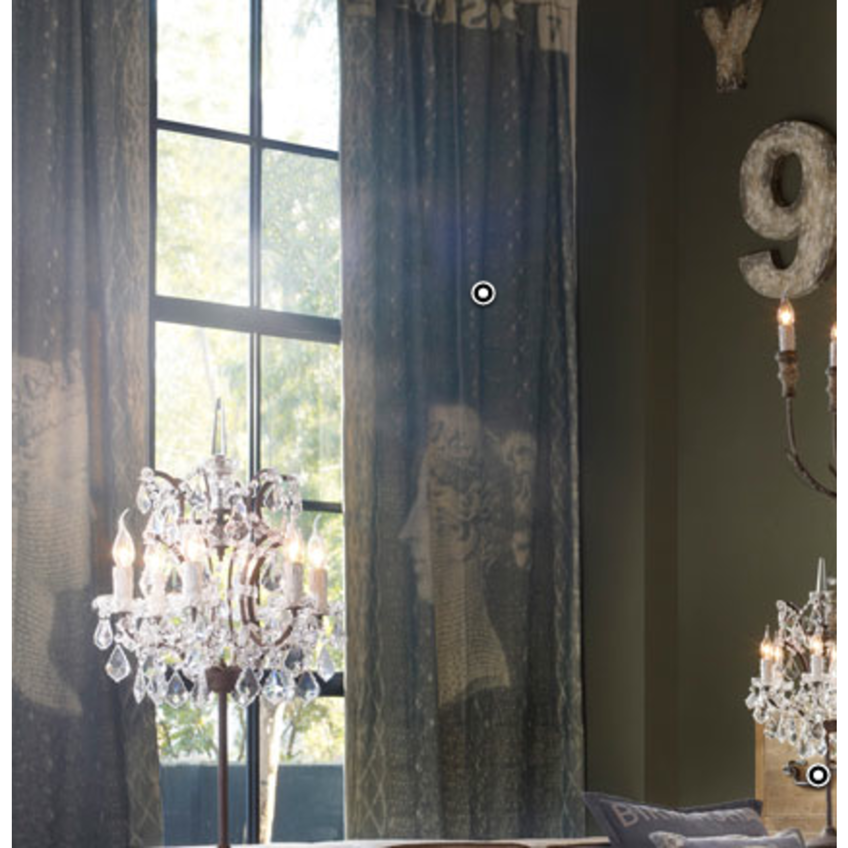 TIMOTHY OULTON CURTAINS - PENNY BLACK