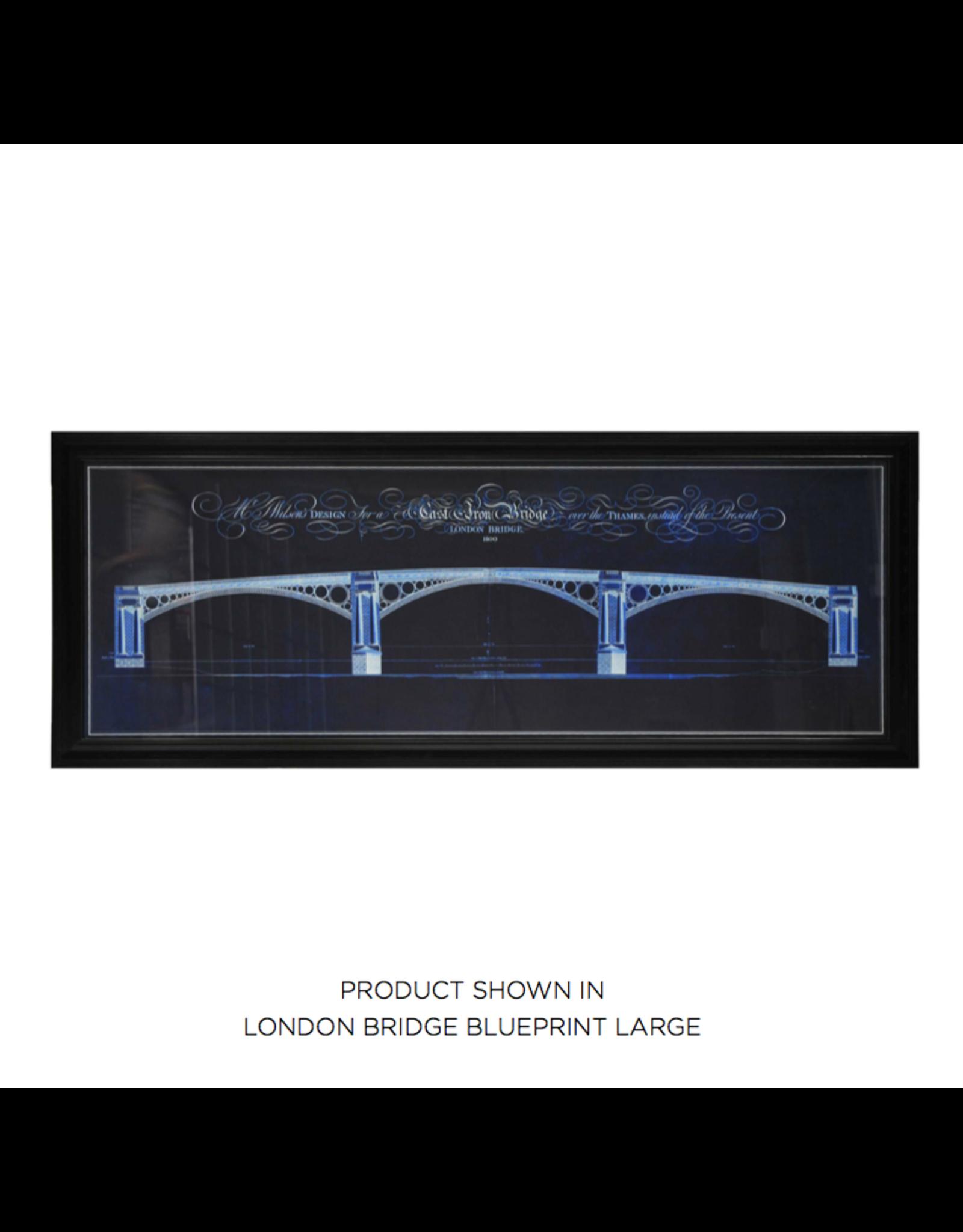 TIMOTHY OULTON ARCHTRL LONDON BRIDGE BLUEPRINT LARGE ART