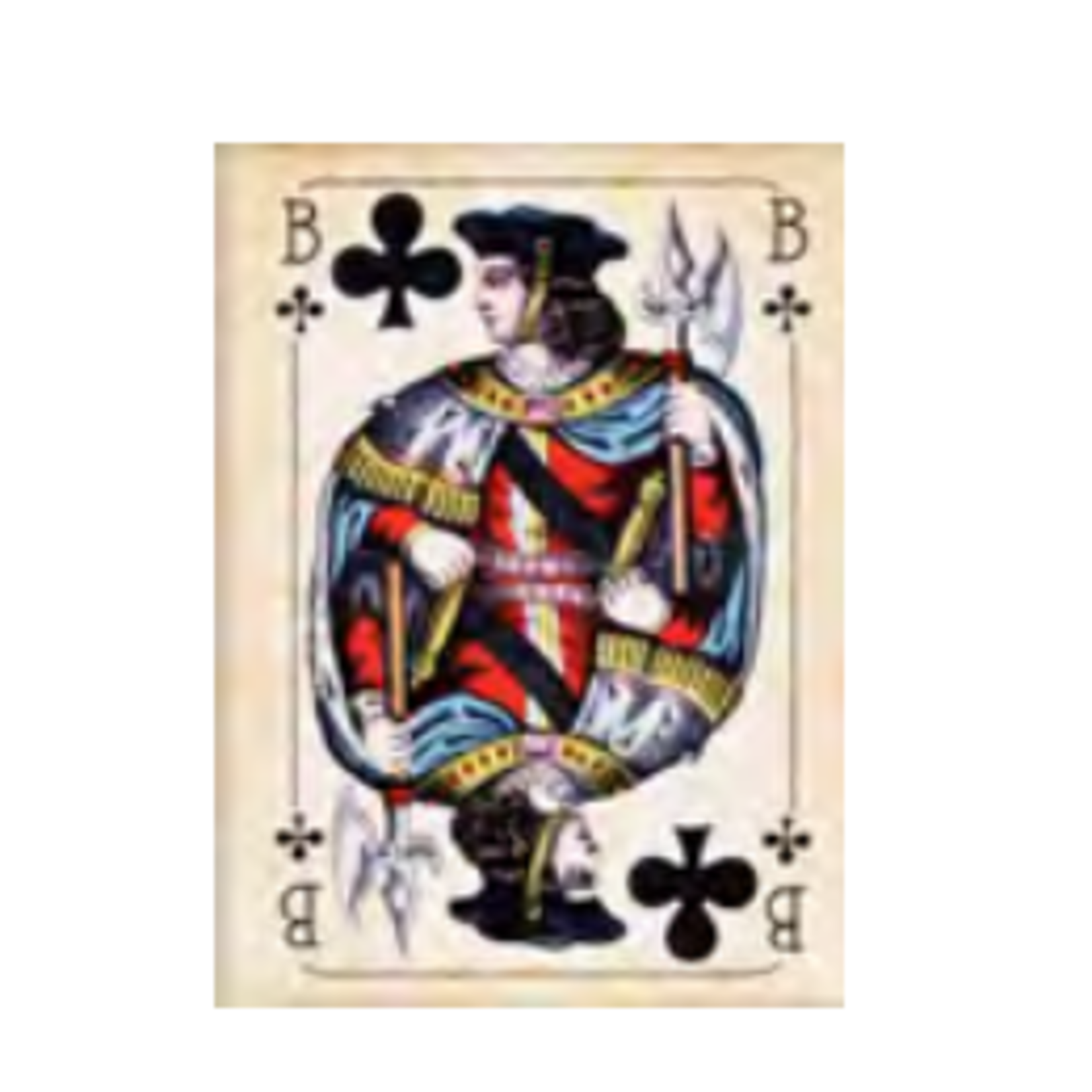 CARDS BUBE CLUBS ART - BLK WD