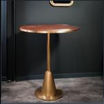 OBJET DE CURIOSITE BAR TABLE LEATHER AND BRASS