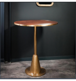 OBJET DE CURIOSITE LEATHER AND BRASS BAR TABLE