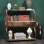 OBJET DE CURIOSITE Inclined book rack brass finish1600