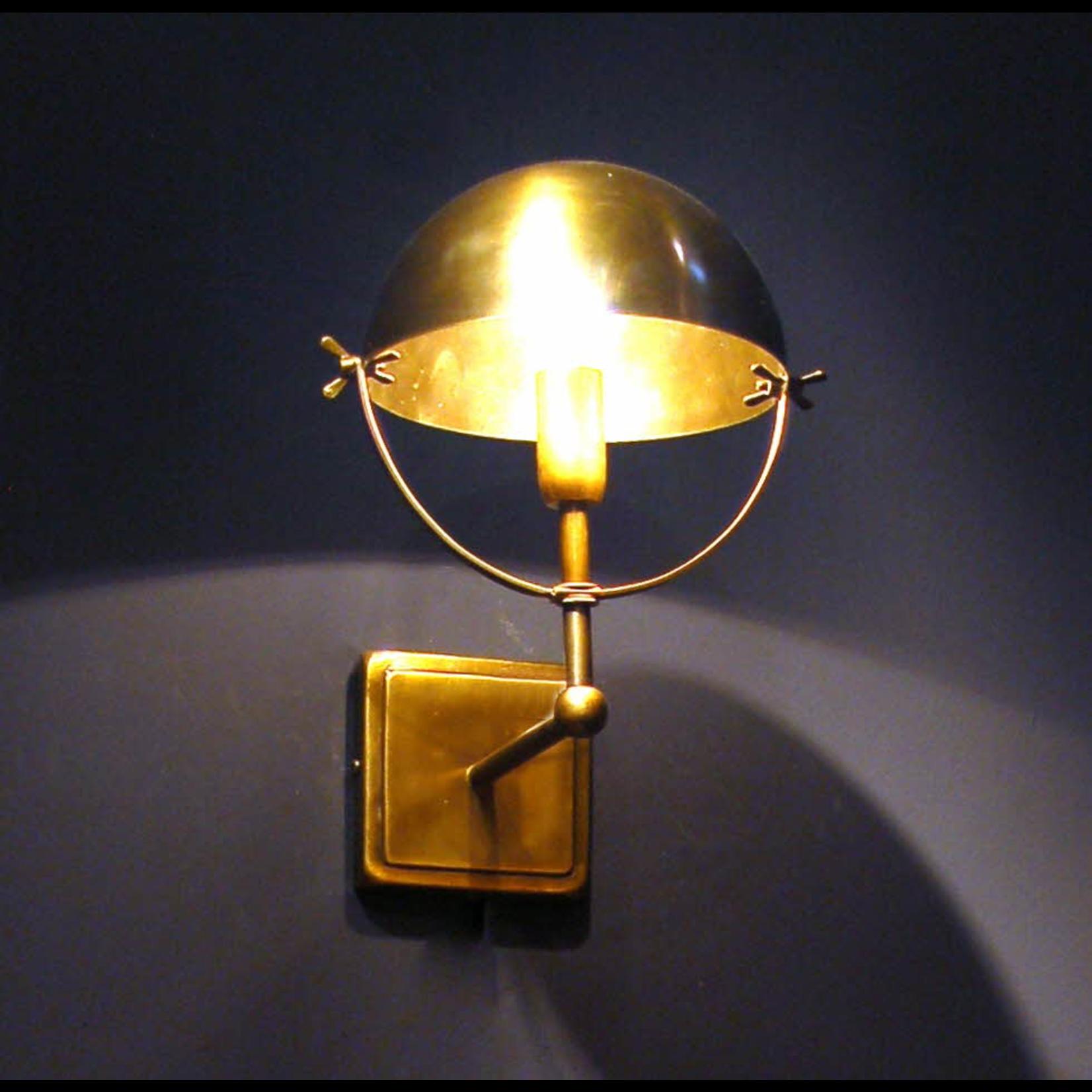 OBJET DE CURIOSITE ST BOL WALL LAMP BRASS ANTIQUE FINISH