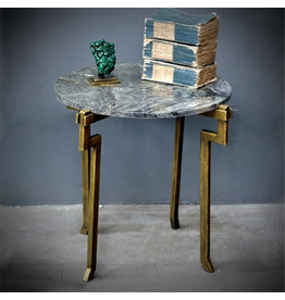 OBJET DE CURIOSITE GREEN MARBLE TOP TABLE