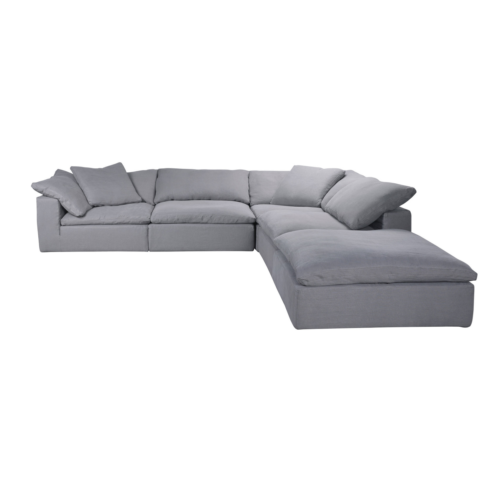 TIMOTHY OULTON SECTIONAL CLOUD SMALL  1 SEATER-GALATA LINEN GREY