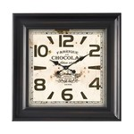 ANTIC LINE WALL CLOCK SQUARE CHOCOLATE