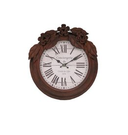 ANTIC LINE WALL CLOCK RUSTY COLOR
