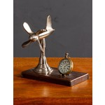 CHEHOMA DESK CLOCK WITH PROPLLER ON LEATHER STAND