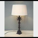 "CHEHOMA METAL TABLE LAMP ""VICTORIA"" BROWN PATI"