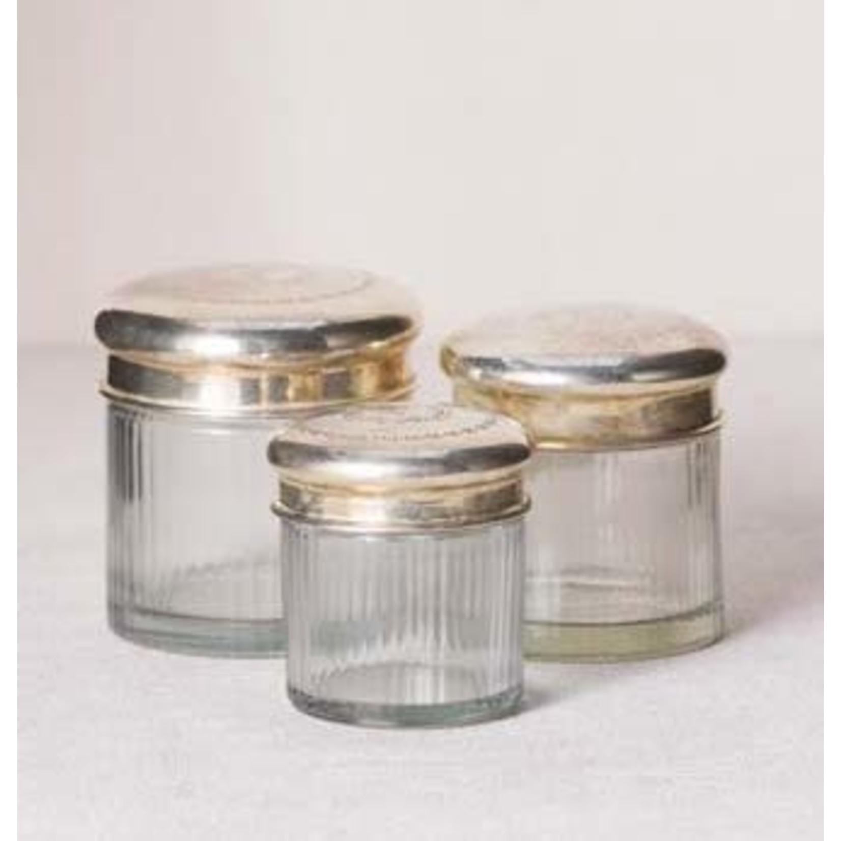 CHEHOMA 3 SET OF JAR WITH STRIPES & IRONTOP
