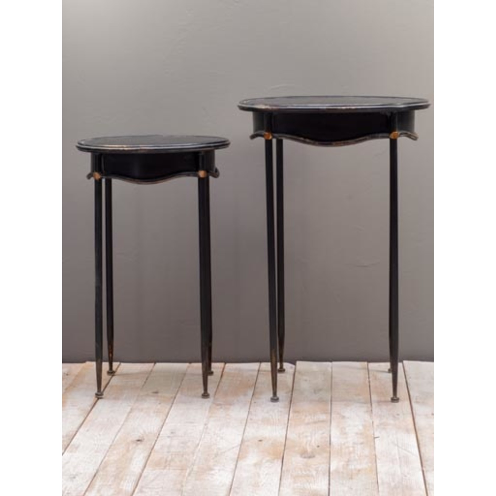 CHEHOMA SIDE TABLES SET OF 2 OVAL  ORLEANS