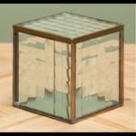 CHEHOMA GLASS BOX WITH BRASS FINISH