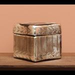 CHEHOMA SQUARE BOX IN SILVERD GLASS