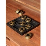 CHEHOMA OXO GAME RESIN AND BRASS