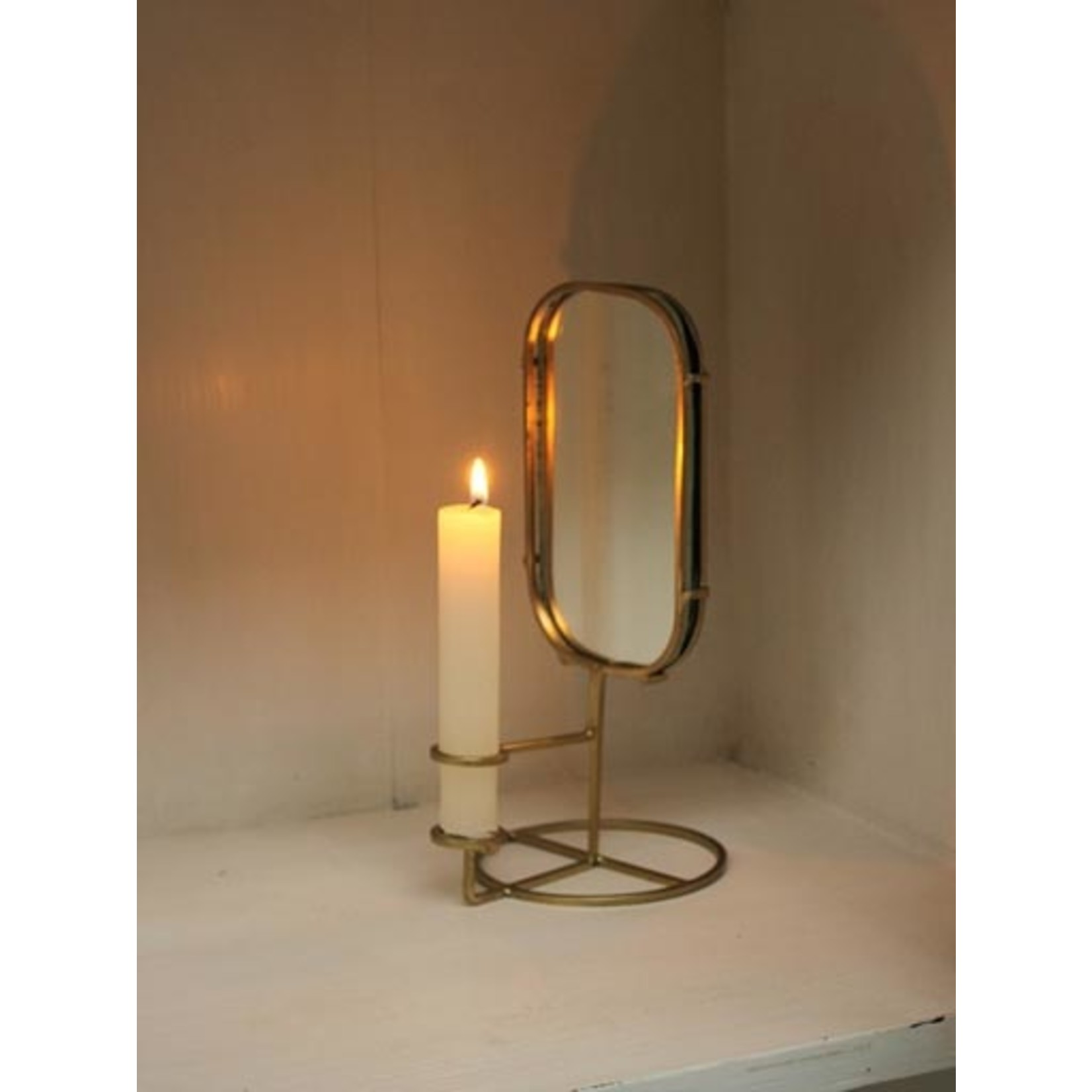 CHEHOMA RING CANDLE HOLDER AND MIRROR