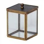 CHEHOMA SMALL GLASS BOX WITH BLACK LID IRMA