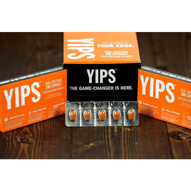 YIPS Total Spectrum CBD Capsules 10 Pack - Case of 10 (Display Box)