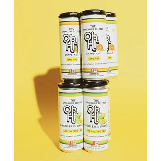 Oh Hi THC Sparkling Seltzer Ginger Basil Limeade - Case of 24
