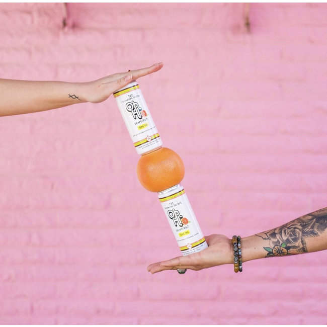 Oh Hi THC Sparkling Seltzer Grapefruit - Case of 24