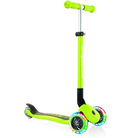 Globber Lime Green Primo Scooter w/Lighted Wheels