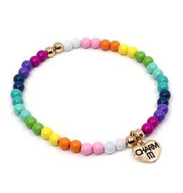 Charm It Rainbow Stretch Bead Bracelet