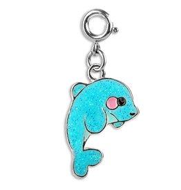 Glitter Dolphin Charm