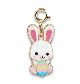 Glitter Easter Bunny Charm