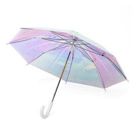 Adult White Holographic Umbrella