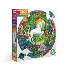 Unicorn Garden Round Puzzle 500pcs