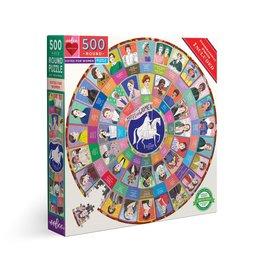 Votes for Women Rund Puzzle 500pcs