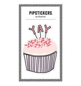 Big Puffy Cupcake Sticker