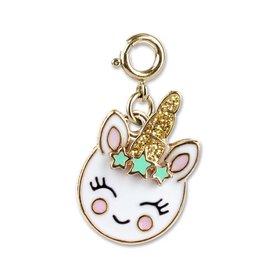 Gold Unicorn Smiley Charm