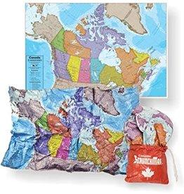 Canada Scrunch Map